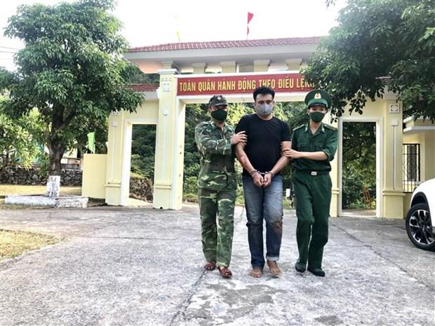 广平省成功破获一起非法运输8000颗合成毒品案件 hinh anh 1
