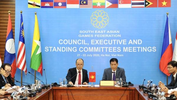 2020年第一届东南亚体育联合会会议以视频形式召开 hinh anh 1