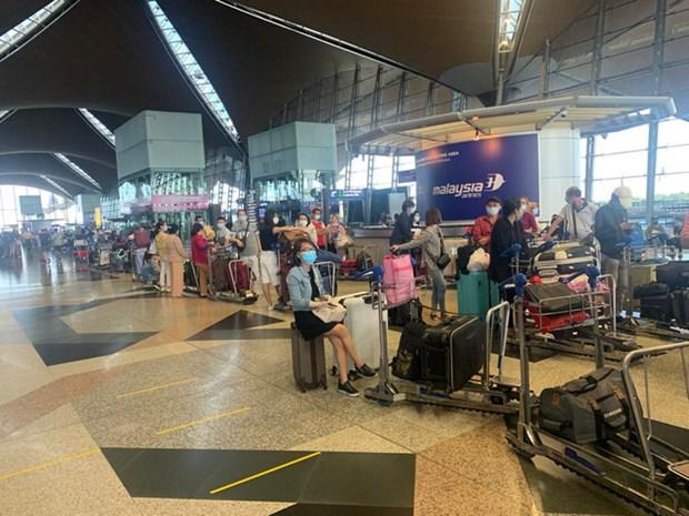 新冠肺炎疫情:把在马来西亚的300多名越南公民接回国 hinh anh 1