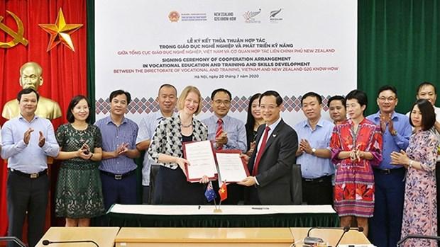 越南和新西兰签署职业培训合作协议 hinh anh 1