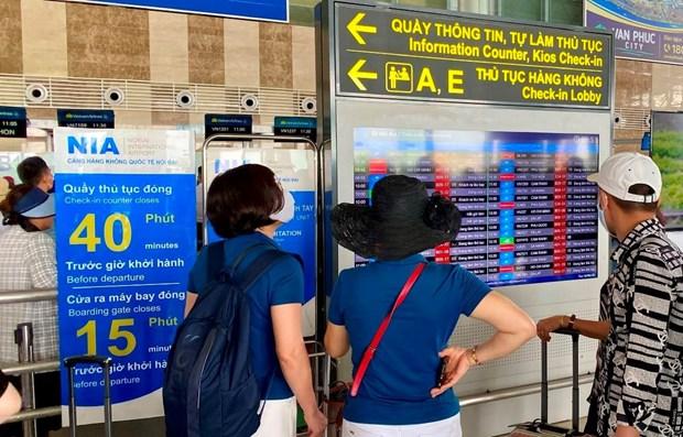 内排国际机场将从7月底取消登机广播服务 hinh anh 1
