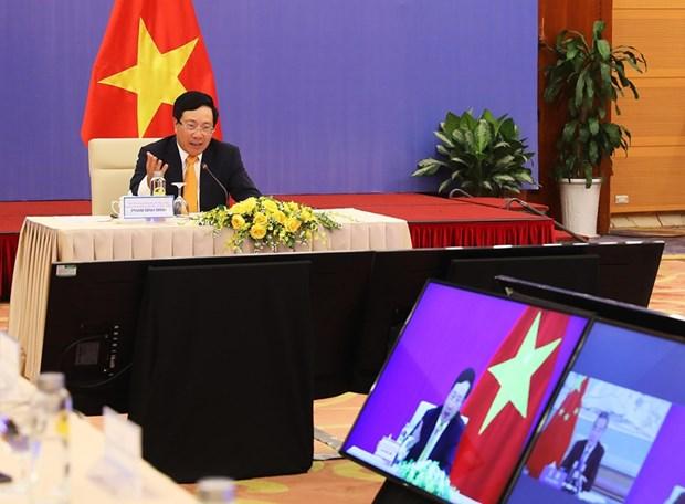 越中双边合作指导委员会第十二次会议以视频形式召开 hinh anh 1