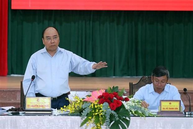 政府总理阮春福视察同奈省隆城国际航空港项目征地拆迁工作 hinh anh 3