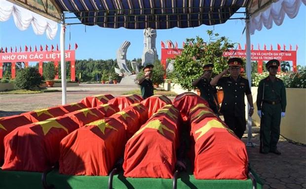 7·27伤残军人与烈士日:同塔省为52名志愿军烈士举行追悼会 hinh anh 1