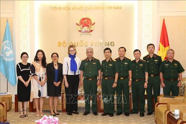 """国防部副部长阮志咏:越南为""""妇女与联合国维和行动""""国际会议做好准备 hinh anh 1"""