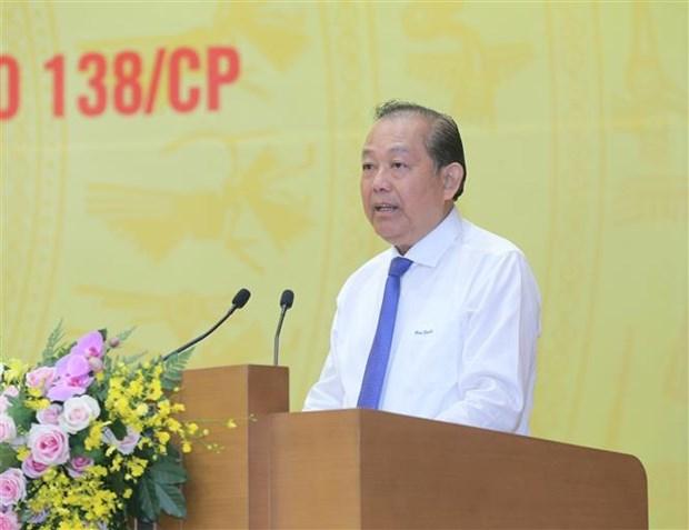 """张和平副总理:坚决调整处理""""为虎作伥""""的干部、公务员 hinh anh 2"""
