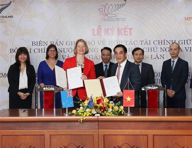 越南与新西兰签署财政合作备忘录 hinh anh 1