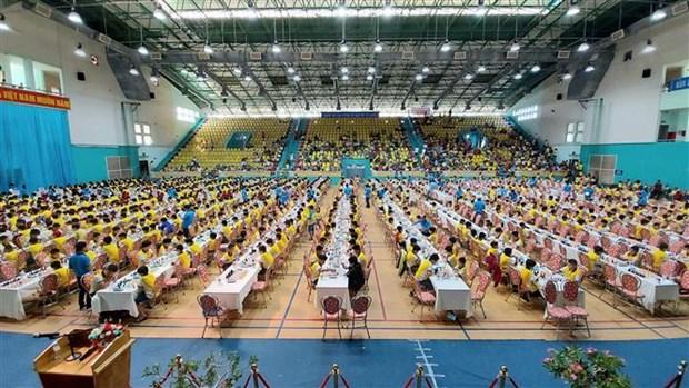 2020年国家青少年象棋锦标赛吸引近1300名运动员参赛 hinh anh 1