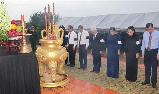 7·27越南伤残军人与烈士日:平福省举行烈士遗骸追掉会和安葬仪式 hinh anh 2