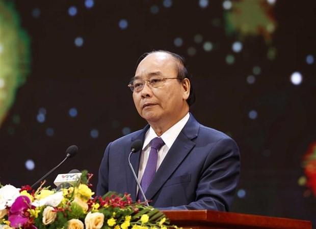 阮春福总理出席越南英雄母亲代表见面会 hinh anh 2