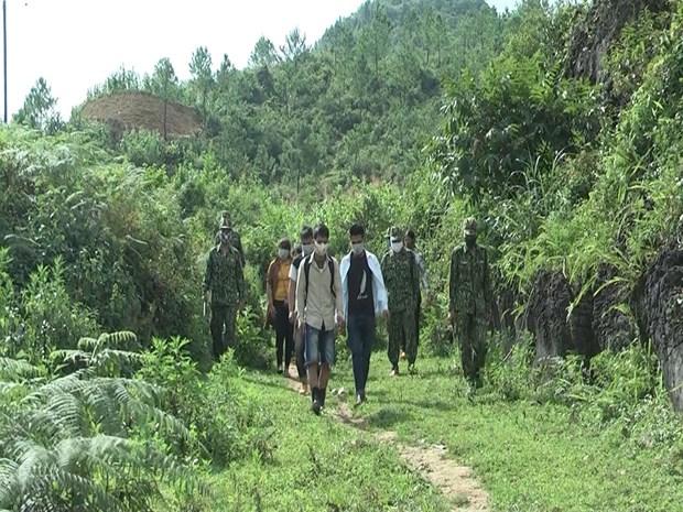 河江省发现非法入境逃避隔离的14名嫌疑人 hinh anh 1