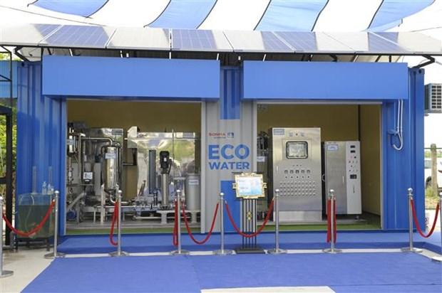 河内市全国首个家庭和手工艺村污水废水智能处理系统投入运行 hinh anh 1