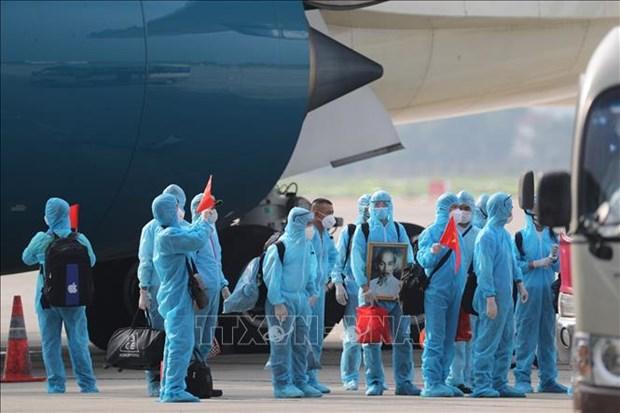 219名越南公民从赤道几内亚安全回国 hinh anh 1