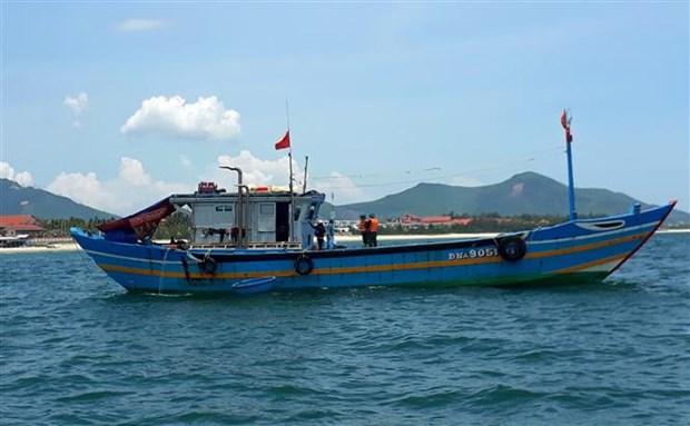 承天顺化省发现一艘承载9名故意逃避隔离人员的渔船 hinh anh 1