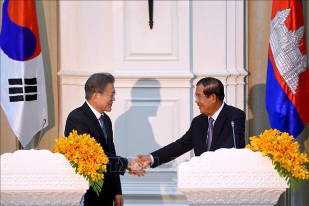 韩国与柬埔寨正式启动自由贸易谈判 hinh anh 1