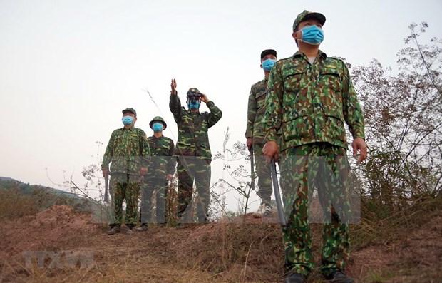 越南军队力量坚决打击非法入境活动 hinh anh 1