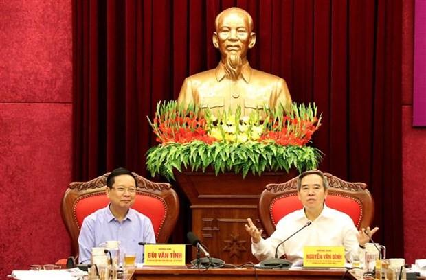 越共中央经济部长阮文平:和平省应把经济发展放在北部邱琳和山区的总体发展规划来抓 hinh anh 2
