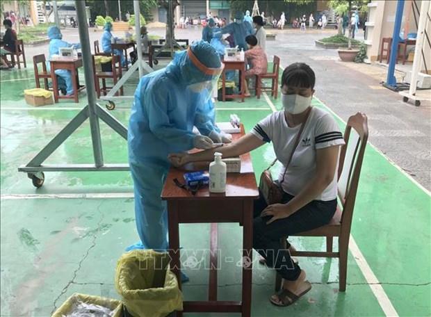岘港市开展大规模新冠病毒检测 hinh anh 1