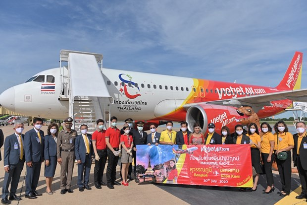越捷航空公司曼谷-孔敬航线开通 自8月1日推出5泰铢起的特价机票 hinh anh 1
