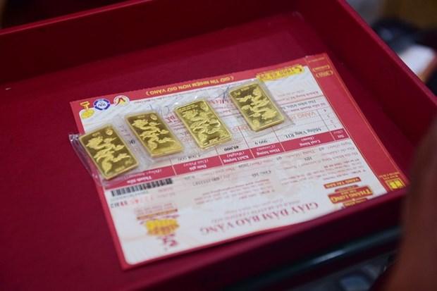 8月5日越南国内黄金价格猛增 接近5900万越盾 hinh anh 1