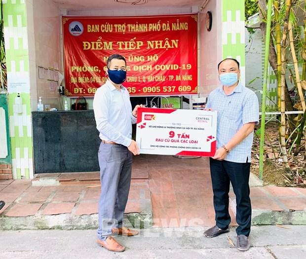 Central Retail(越南)公司向岘港市捐赠10吨食品 hinh anh 1