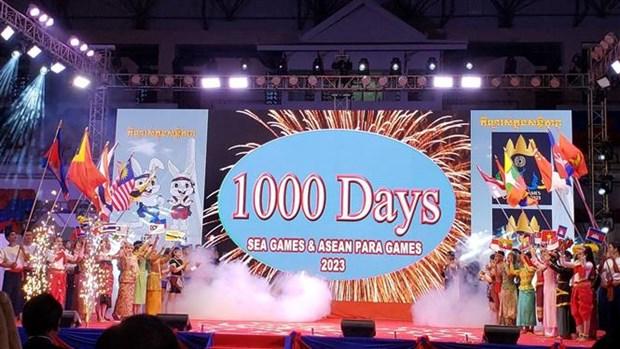2023年东运会倒计时1000天启动仪式在柬埔寨举行 hinh anh 1