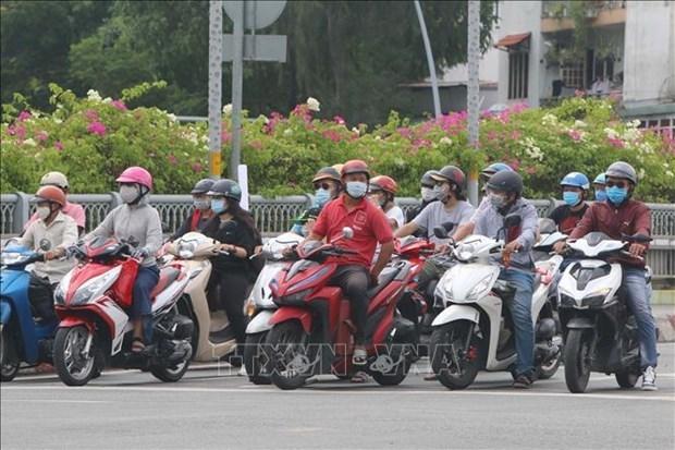 新冠肺炎疫情:胡志明市对841名在公共场所不佩戴口罩者进行处罚 hinh anh 1