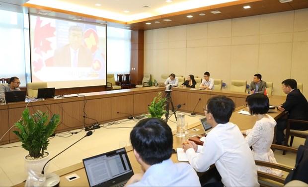 2020东盟轮值主席国年:第17次东盟与加拿大对话会以视频形式召开 hinh anh 2