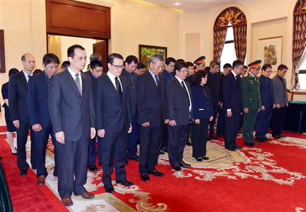 越南驻中国大使馆为黎可漂举行吊唁仪式 hinh anh 1