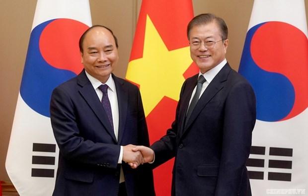 越南党和国家领导人就大韩民国国庆75周年致贺电 hinh anh 1