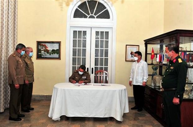 原越共中央总书记黎可漂吊唁仪式在古巴举行 hinh anh 2