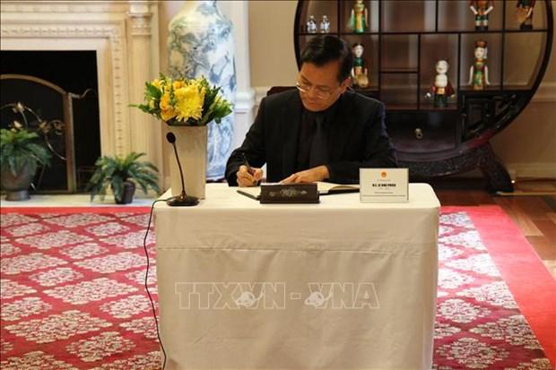 原越共中央总书记黎可漂的吊唁仪式在美国和英国举行 hinh anh 2