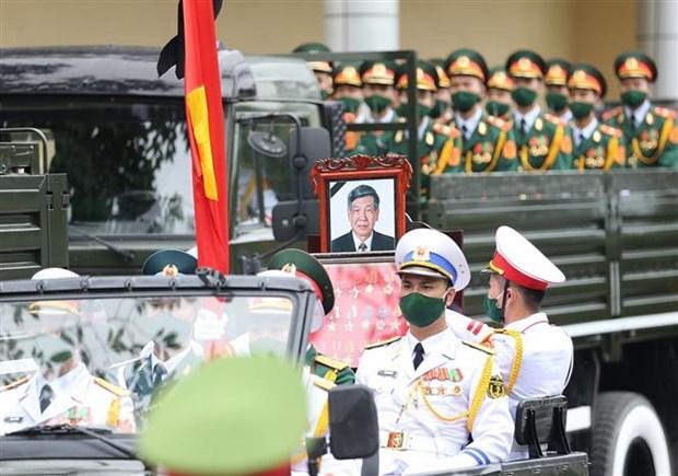 原越共中央总书记黎可漂追悼会和安葬仪式举行 hinh anh 3
