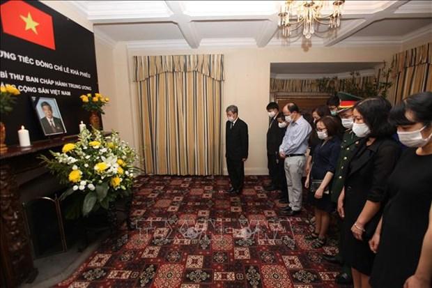 原越共中央总书记黎可漂的吊唁仪式在美国和英国举行 hinh anh 1