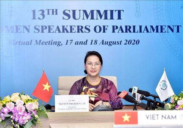越南国会主席阮氏金银出席第十三届全球女性议长峰会 hinh anh 1