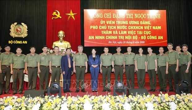 越南国家副主席:保护内部政治安全是特别重要任务 hinh anh 1