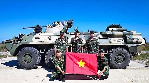 越南人民人民军高级代表团参加2020国际军事比赛 hinh anh 1