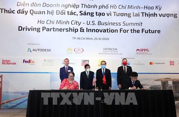 胡志明市与美国加强智慧城市建设领域的合作 hinh anh 1