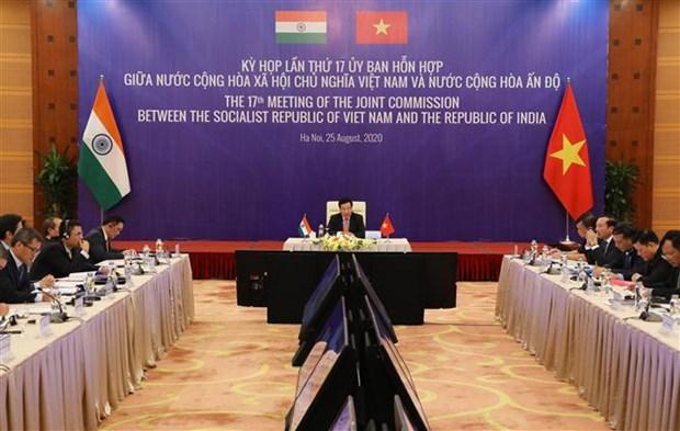 越印联合委员会第17次会议:力争在最早的时间内实现两国双边贸易额达150亿美元的目标 hinh anh 1