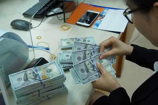 8月27日上午越盾对美元汇率中间价上调5越盾 hinh anh 1