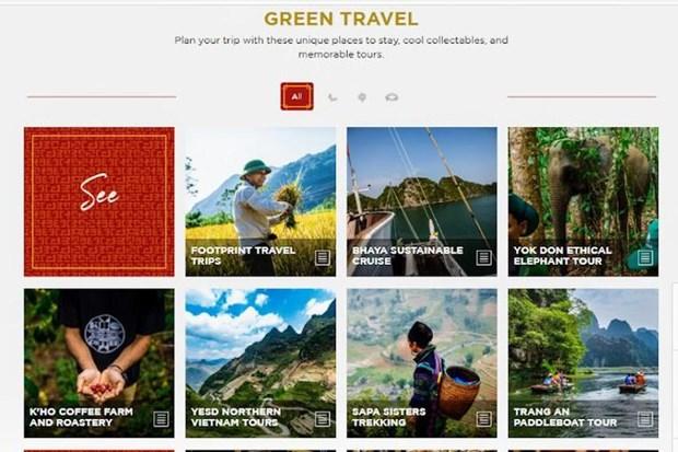 """推广越南旅游的""""绿色旅游""""信息网站正式亮相 hinh anh 1"""