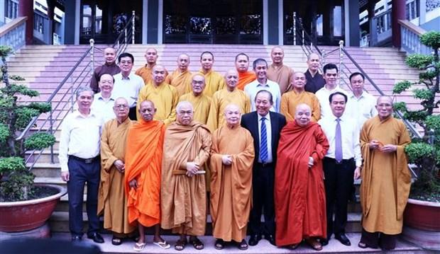 张和平副总理向越南佛教教会领导和佛教信徒致以盂兰盆节祝福 hinh anh 1