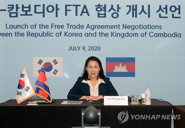 《韩国与柬埔寨自由贸易协定》进入第二轮谈判 hinh anh 1