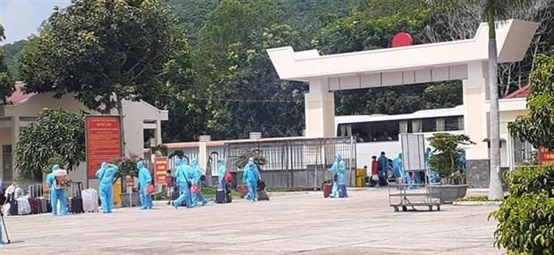 巴地头顿省对与入境日本后的一名新冠患者有密切接触的33名人员进行集中隔离 hinh anh 1