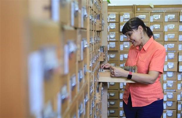 庆祝越南国庆75周年:在俄罗斯塔斯社资料图片库所保存有关越南的图片的价值令人印象深刻 hinh anh 1