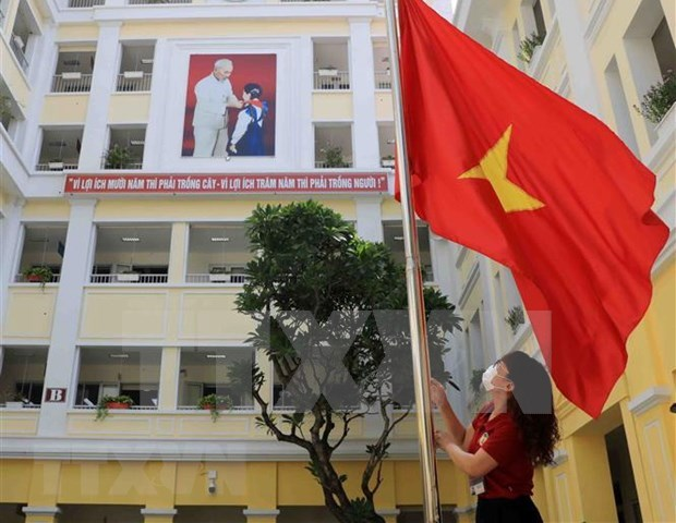迎接新学年的到来 越共中央总书记、国家主席阮富仲致信全国师生 hinh anh 1