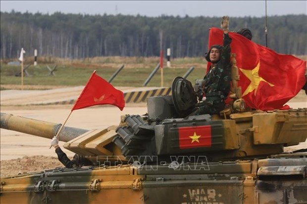 Army Games 2020: 越南夺得坦克两项比赛第二组决赛冠军 hinh anh 1
