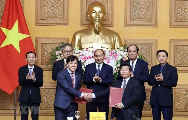 越南政府总理阮春福与拟扩大对越投资的日本组织和企业进行座谈 hinh anh 1