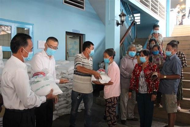 协助越裔柬埔寨人的第四批新冠肺炎疫情紧急援助计划正式启动 hinh anh 1