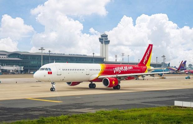 越捷航空公司推出数十万张1万越盾的机票 hinh anh 2